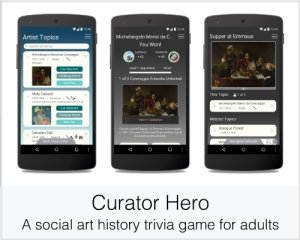 Curator Hero: A social art history trivia game for adults