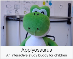 Applyosaurus: An interactive study buddy for children
