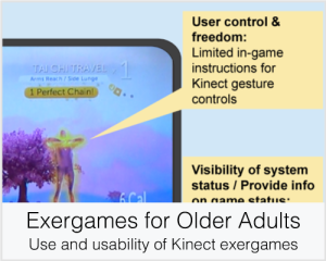 Exergames for Older Adults: Use and usability of Kinect exergames
