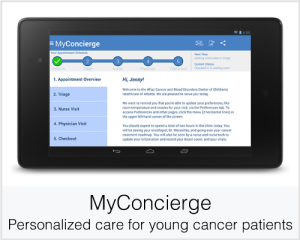 MyConcierge: Personalized care for young cancer patients