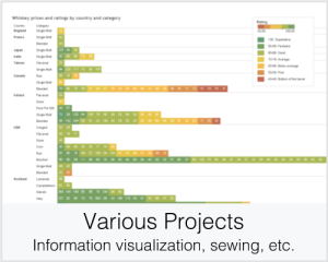 Various Projects: Information visualization, sewing, etc.