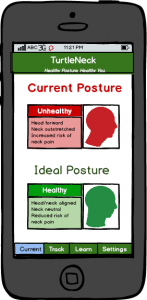 Current Posture screen