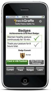 Badges Earned screen