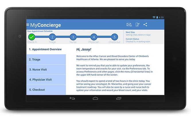 MyConcierge: Appointment Overview