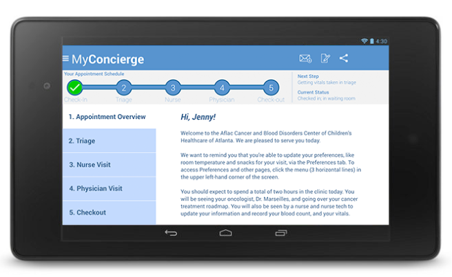 MyConcierge: Appointment Overview